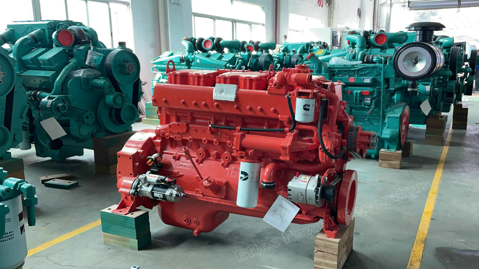 Cummins 200kW 300kW 500kW Engines available in Stock ETTES POWER