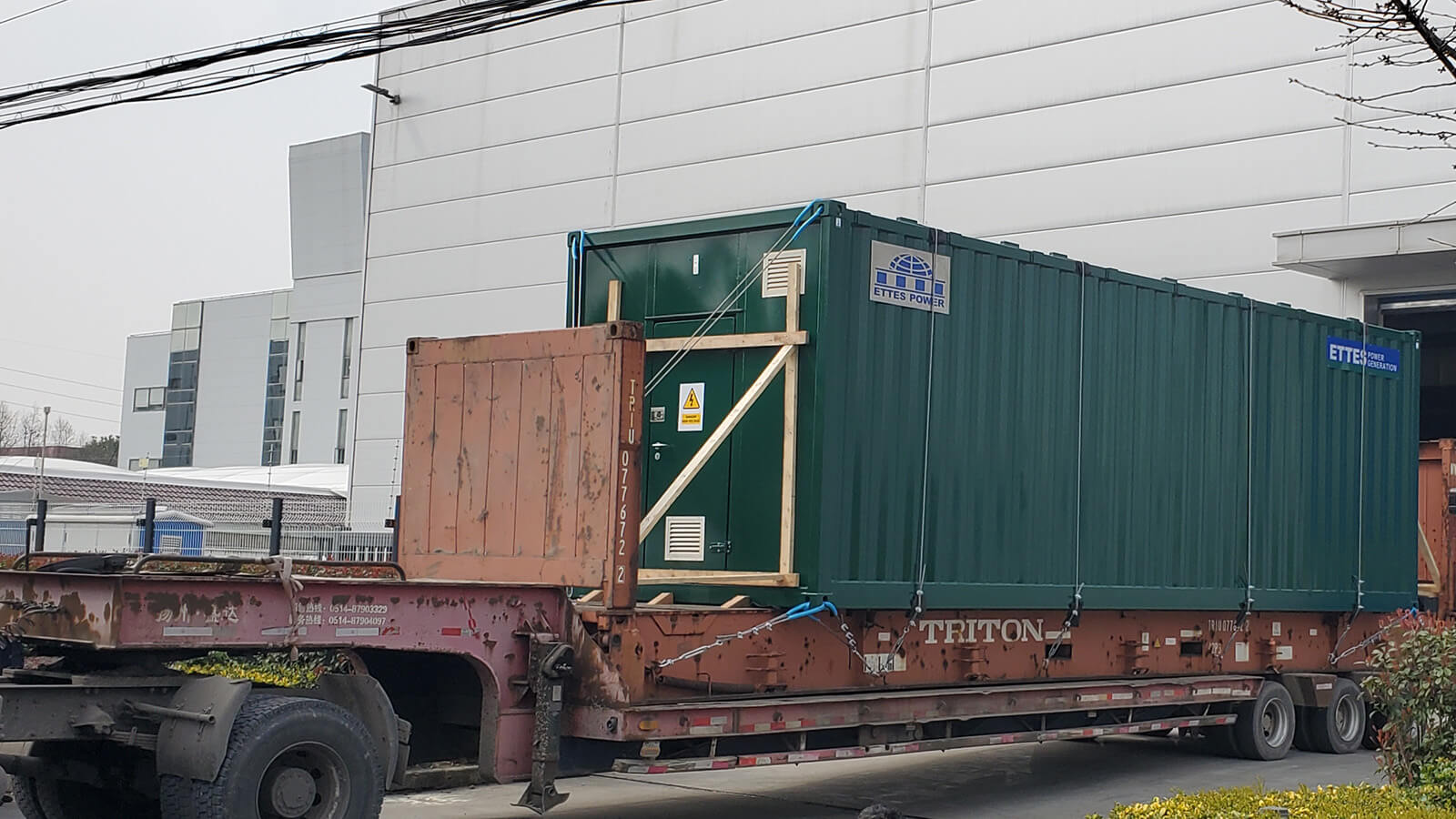 MAN Biogas Generator & CHPs are Transported to the Port in a Frame Container ETTES POWER
