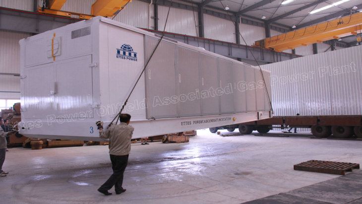 Containerized Ettes Power Natural Gas oilfield gas Engine Power Generator Generation 500kw 600kw Ettespower Group