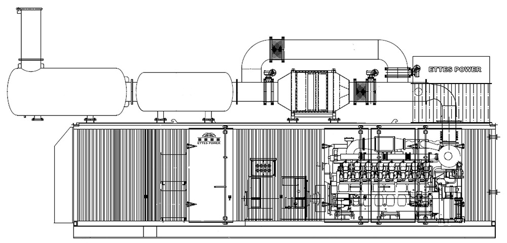 Ettes Power 500kw 1000kw 1mw 2mw gas engine generator generation Ettespower