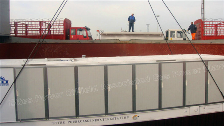 Ettes Power Bulk Shipment 1000kw 1mw Natural Gas Engine Container Generator Ettespower