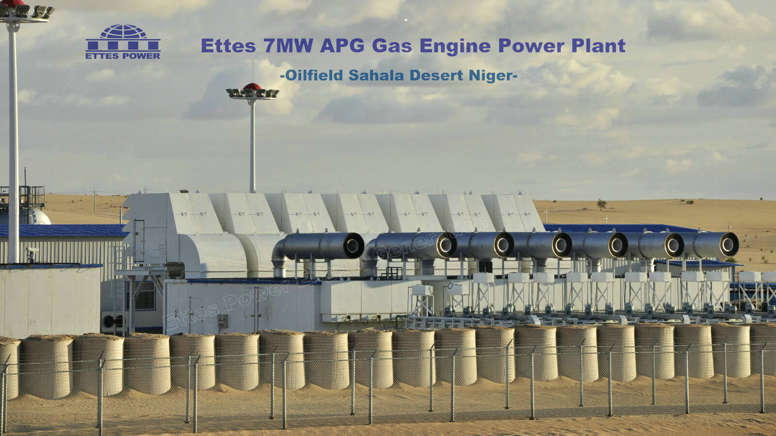 19MW Oilfield Associated Gas Power Plant in Niger Africa