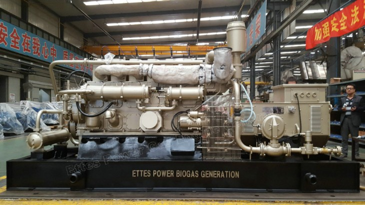 Ettes Power Group 300kW 500kW 1MW Natural Gas Biogas Engine Generator CHP Ettespower