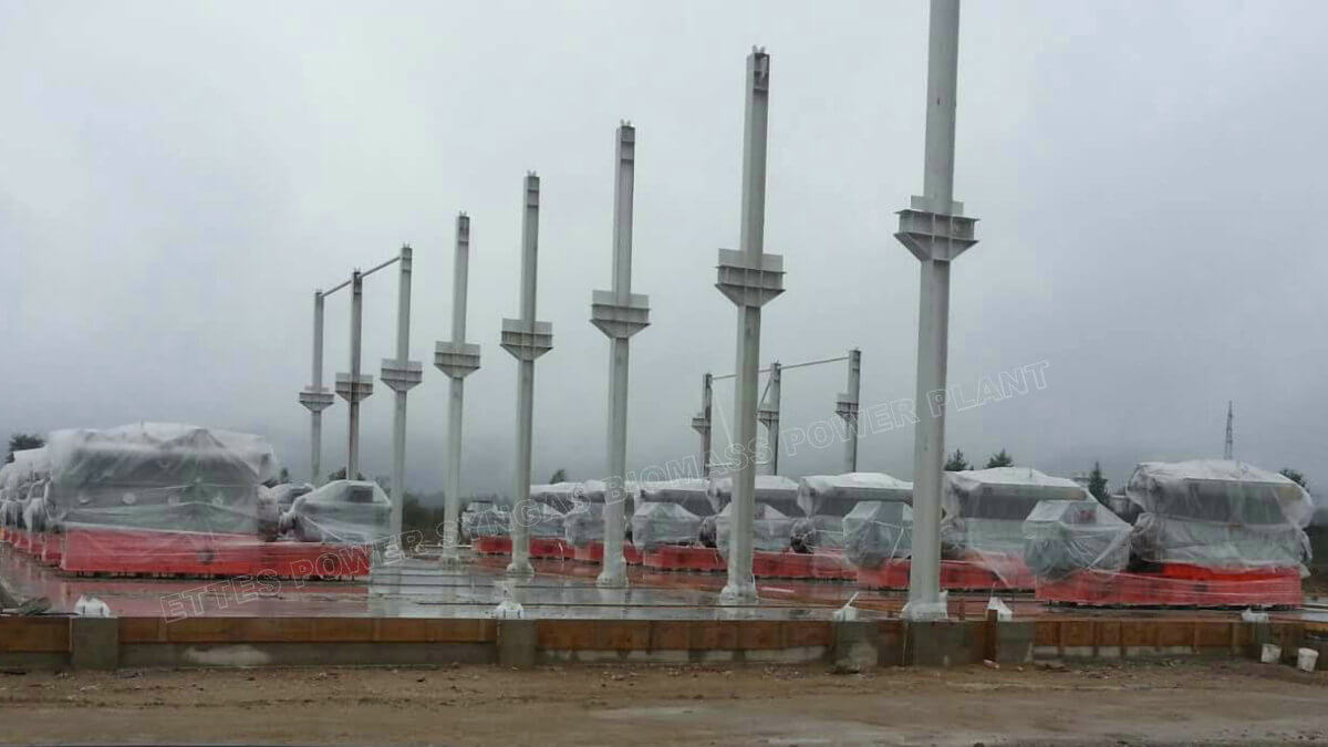 ETTESPOWER construction site of Syngas Biomass 5MW Generator CHP plant-ETTES Genset